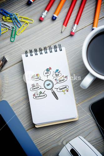 Composite image of seo doodle