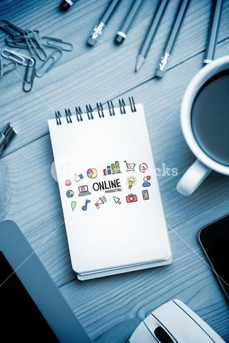 Composite image of online marketing doodle
