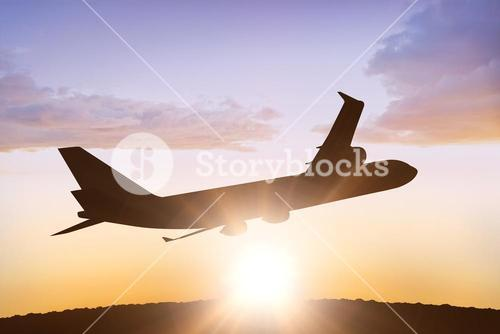 Composite image of graphic airplane