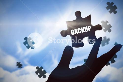 Backup against blue sky