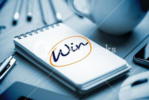 Win against notepad on desk
