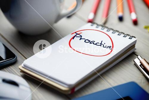 Proactive against notepad on desk
