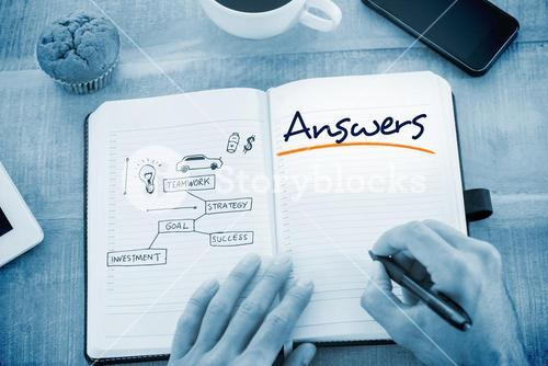 Answers against business concept vector