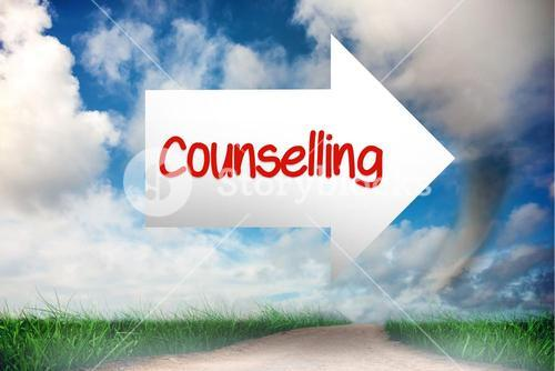 Counselling against road leading out to the horizon