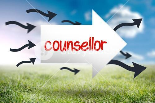 Counsellor against sunny landscape