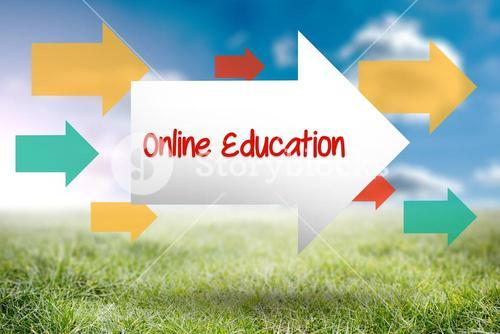 Online education against sunny landscape