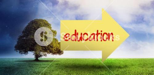 Education against field of night and day