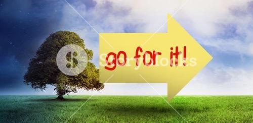 Go for it! against field of night and day