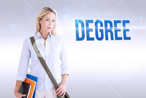 Degree against grey background