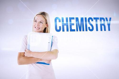 Chemistry against grey background