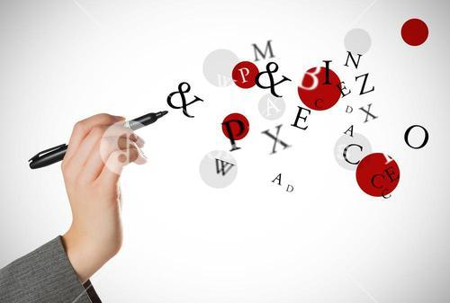 Composite image of businesswomans hand writing with marker