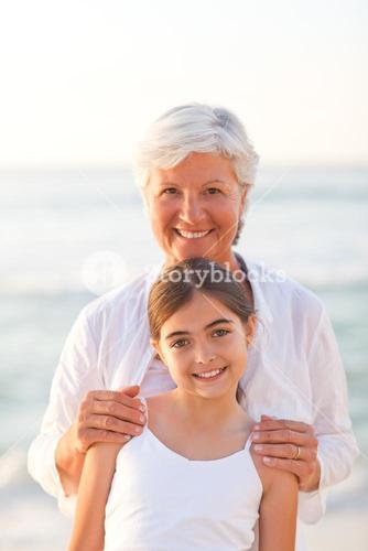Portrait of a Grandmother with her granddaughter