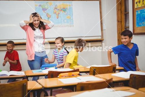 Students driving the teacher crazy