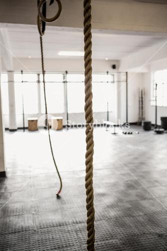 Exercise rope hanging
