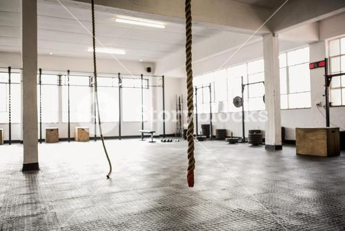 Exercise ropes hanging and equipment