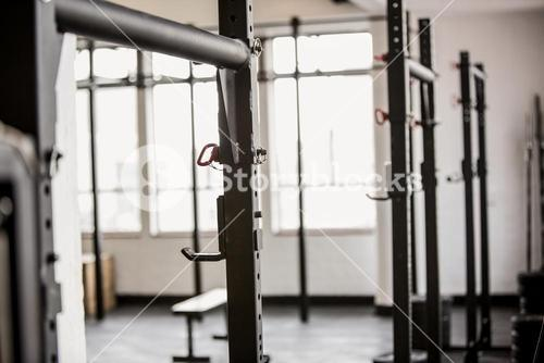 Barbell rack exercise stand