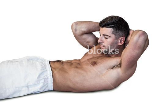 Man doing abdominal crunches