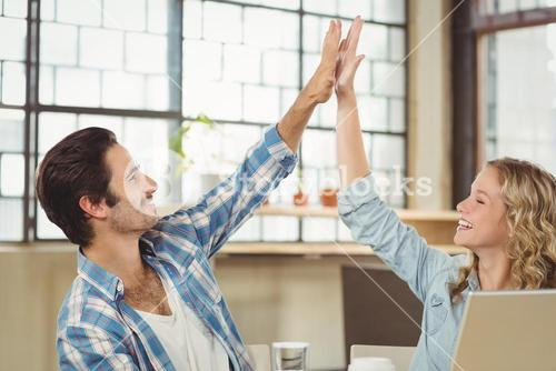 High five done by colleague
