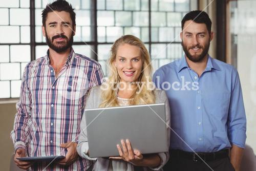 Portrait of happy business people