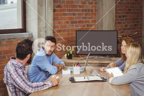 Business people discussing in meeting