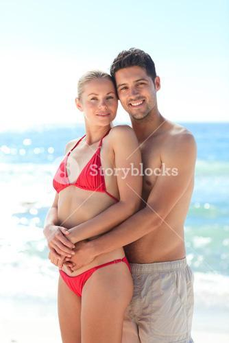 Lovely woman with her boyfriend