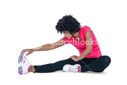 Fit young woman exercising
