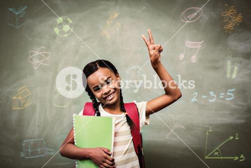 Composite image of school subjects doodles