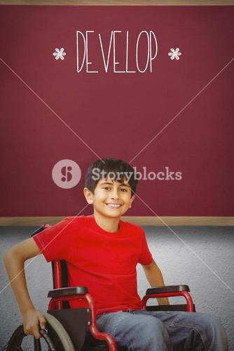 Develop against red background