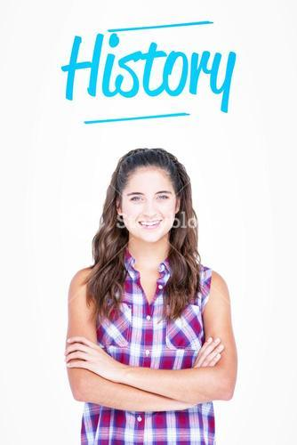 History against white background with vignette