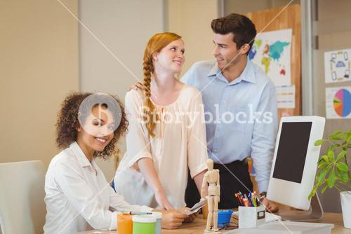 Businesswoman with colleagues