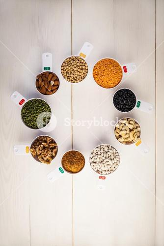 Portion cups of healthy ingredients