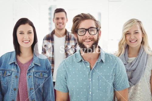 Portrait of smiling business professionals