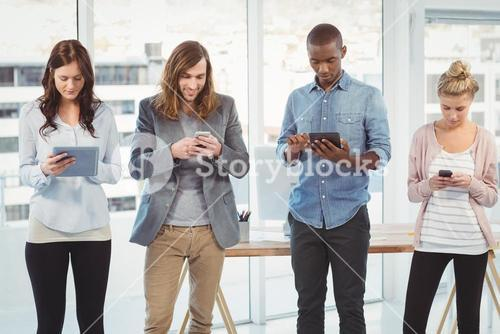 Business team using technology