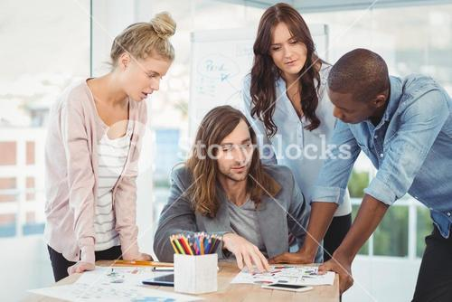 Business team discussing at desk