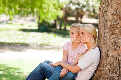 Lovely mother with her daughter