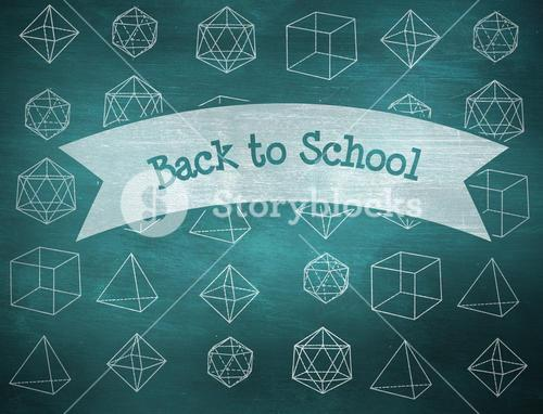 Back to school against green chalkboard