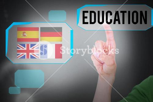 Education against grey background