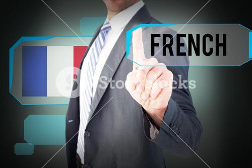French against green background with vignette