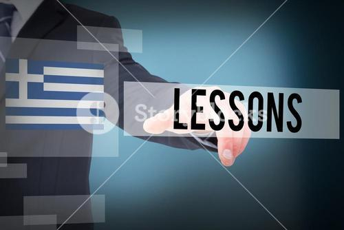 Lessons against blue background