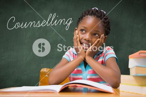 Counselling against green chalkboard