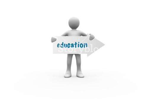 Education against white background with vignette