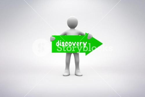 Discovery against grey background