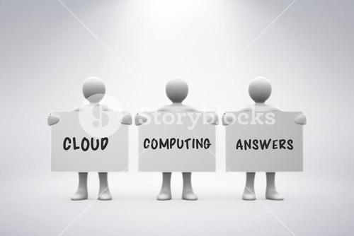 Composite image of cloud computing answers