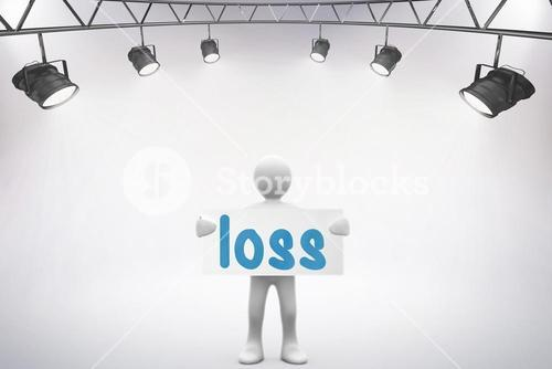 Loss against grey background