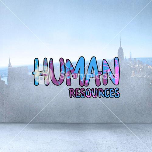 Composite image of human resources