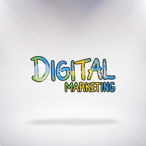 Composite image of digital marketing