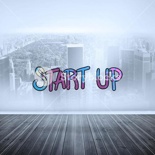 Composite image of start up