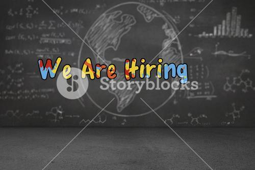 Composite image of we are hiring