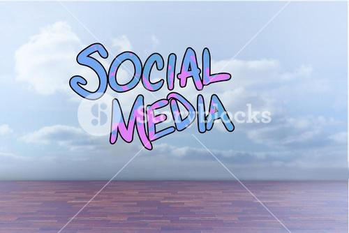 Composite image of social media