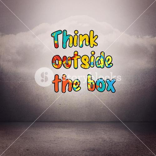 Composite image of think outside the box